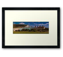 Coastguard Cottages and the Seven Sisters, England Framed Print