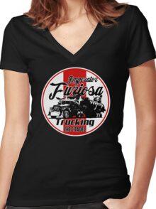 Furiosa trucking Women's Fitted V-Neck T-Shirt