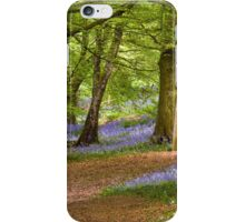 Bluebell Woods in Spring iPhone Case/Skin