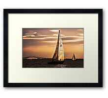 Sails of Gold Framed Print