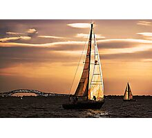 Sails of Gold Photographic Print