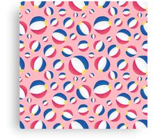 Pink Summertime Beachballs Canvas Print