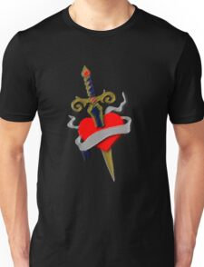 Tattoo vintage old school inspired dagger and heart T-Shirt