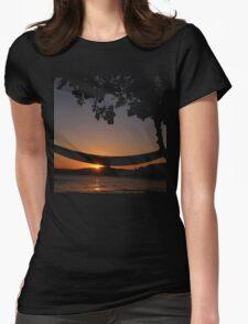 Sunset Hammock Womens Fitted T-Shirt