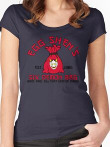 Egg Shen's six demon bag Women's Fitted Scoop T-Shirt