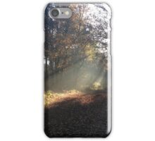 wooded pathway iPhone Case/Skin