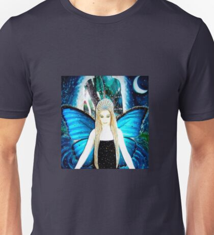butterfly fairy at night Unisex T-Shirt