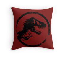 Jurassic park/world logo Throw Pillow