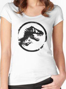 Jurassic park/world logo Women's Fitted Scoop T-Shirt
