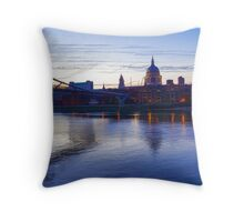 Impressions of London in Purple Throw Pillow