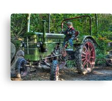 Old Tractor - HDR Canvas Print