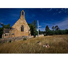 By the Church Photographic Print