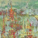 Spires in the Sky Abstract by J O'Neal