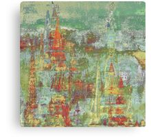 Spires in the Sky Abstract Canvas Print