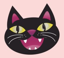 Black cat happiness Kids Clothes