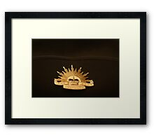 The Australian Army Framed Print