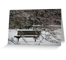 Winter Bench Greeting Card