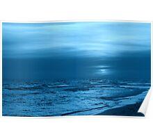 Blue Evening Poster