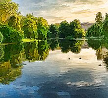 Impressions of Summer - St James's Park Lake Reflections by Georgia Mizuleva