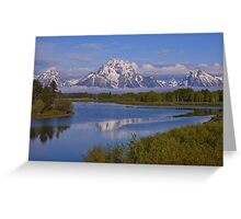 Sunrise at Oxbow Bend Greeting Card