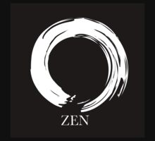 7 DAY'S OF SUMMER-YOGA ZEN RANGE- WHITE ENSO Kids Tee