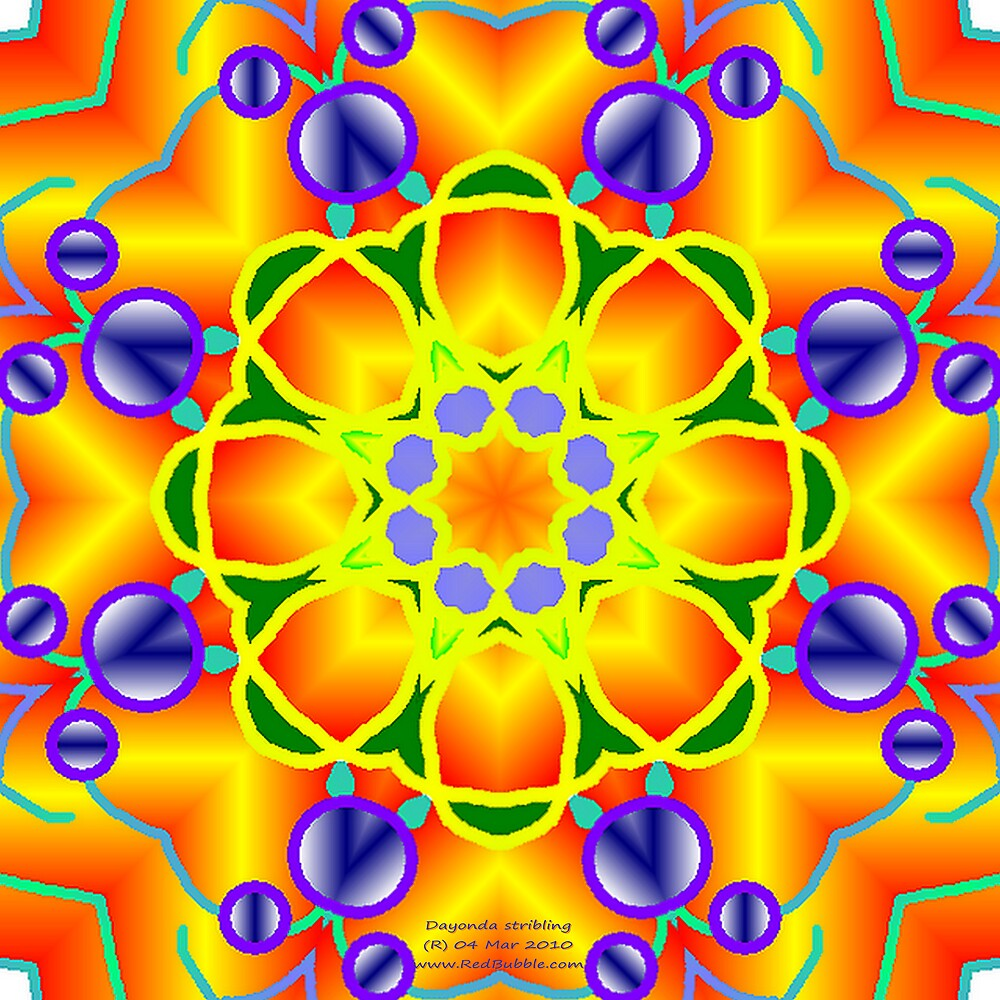 SPRING FLING Kaleidoscope  by Dayonda