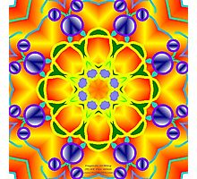 SPRING FLING Kaleidoscope  Photographic Print