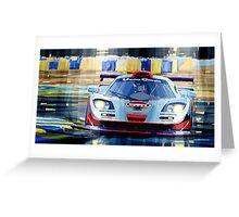 McLaren BMW F1 GTR Gulf Team Davidoff Le Mans 1997 Greeting Card