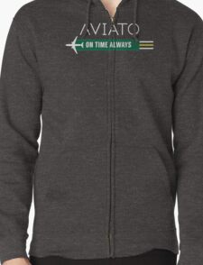 Aviato! On Time Always - Silicon Valley Zipped Hoodie