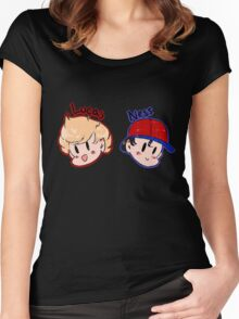Ness and Lucas! Women's Fitted Scoop T-Shirt