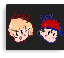 Ness and Lucas! Canvas Print