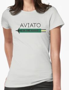 Aviato! On Time Always (Black)- Silicon Valley Womens Fitted T-Shirt