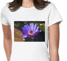 Upbeat Violet Elegance - the Beauty of Waterlilies Womens Fitted T-Shirt