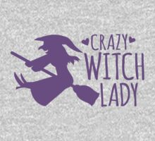 Crazy Witch Lady  One Piece - Long Sleeve