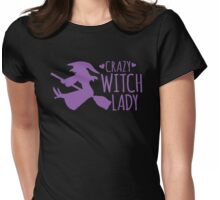 Crazy Witch Lady  Womens Fitted T-Shirt