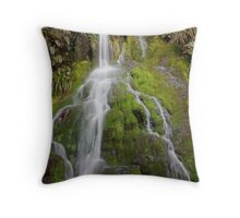 Mossy Waterfall Throw Pillow