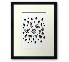 Rainbow Anigami Composition Framed Print