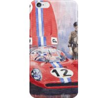 Ferrari 206 SP Dino 1966 Nurburgring Pit Stop iPhone Case/Skin