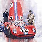Ferrari 206 SP Dino 1966 Nurburgring Pit Stop by Yuriy Shevchuk