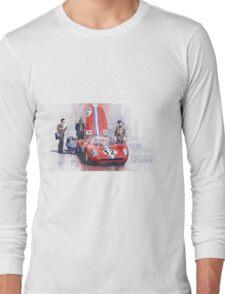 Ferrari 206 SP Dino 1966 Nurburgring Pit Stop Long Sleeve T-Shirt