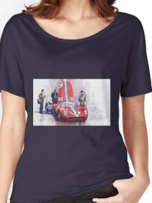Ferrari 206 SP Dino 1966 Nurburgring Pit Stop Women's Relaxed Fit T-Shirt