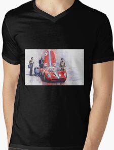 Ferrari 206 SP Dino 1966 Nurburgring Pit Stop Mens V-Neck T-Shirt