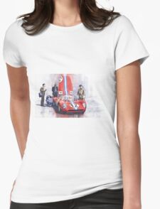 Ferrari 206 SP Dino 1966 Nurburgring Pit Stop Womens Fitted T-Shirt