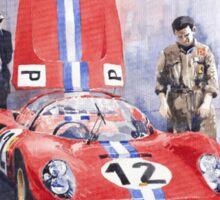 Ferrari 206 SP Dino 1966 Nurburgring Pit Stop Sticker