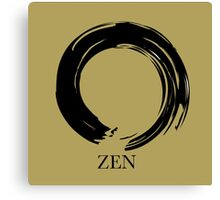 7 DAY'S OF SUMMER-YOGA ZEN RANGE- GOLD ENSO Canvas Print