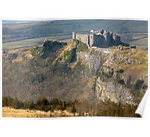 Carreg Cennen Castle in Carmarthenshire Poster