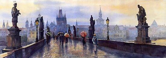 Prague Charles Bridge by Yuriy Shevchuk
