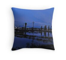 Oil Fields Throw Pillow