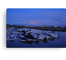 Shoreline Village Marina Port in Long Beach, California Canvas Print