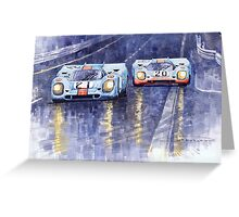 Gulf-Porsche 917 K Spa Francorchamps 1970 Greeting Card